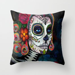 Sugar Skull Candy Throw Pillow