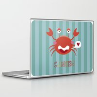 cancer Laptop & iPad Skins featuring Cancer by Esther Ilustra