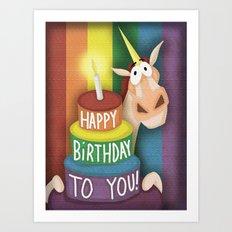 """Happy Birthday To You"" Art Print"