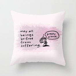 metta Throw Pillow