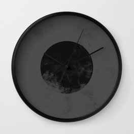 Black Japan Flag Wall Clock