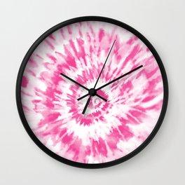 Light Pink Tie Dye Wall Clock