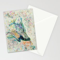Energetic Howling Wolf Stationery Cards