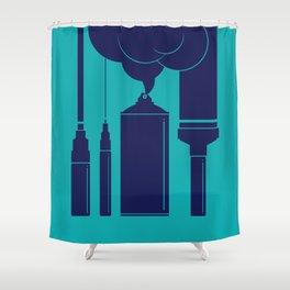 Art Supplies Shower Curtain