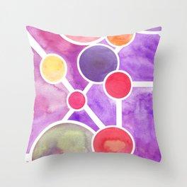 Atomic Planetary Throw Pillow