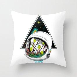 Space Gummies Throw Pillow