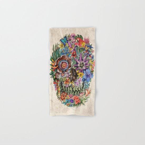 tropilcal floral skull 5 Hand & Bath Towel