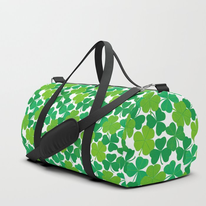 Shamrock Pattern Duffle Bag