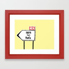 Haifa This Way Framed Art Print