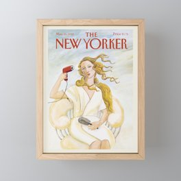 "Cover of "" The new Yorker"" magazine. May. 25 1992. Framed Mini Art Print"