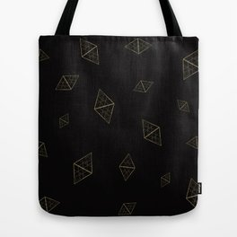Golden Crystals Tote Bag