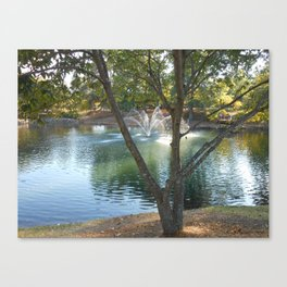 Lake with Feature Canvas Print