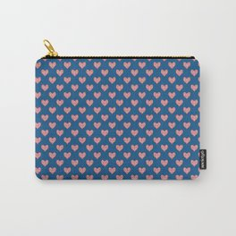Red Hearts on Navy Blue Carry-All Pouch