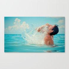The splash of life Canvas Print