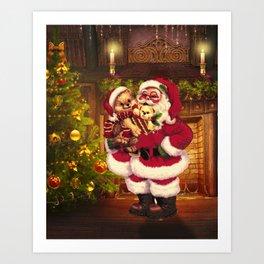 Santa Claus 3 Art Print