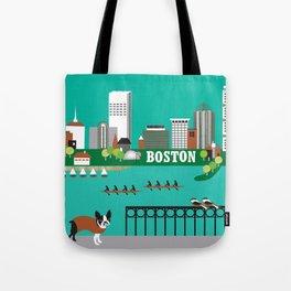 Boston, Massachusetts - Skyline Illustration by Loose Petals Tote Bag