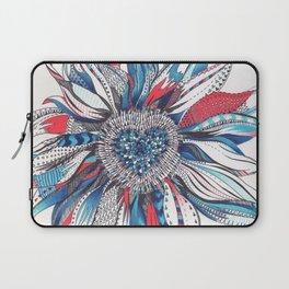 Flower Patterns on White Laptop Sleeve