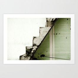 Two-tone Stairs Art Print