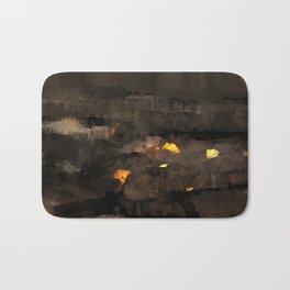 Abstract landscape nature texture lava fire geology digital illustration Bath Mat
