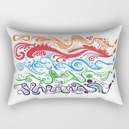 Thoughts in Color Rectangular Pillow