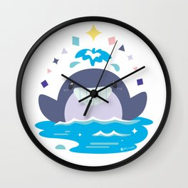 Whale's Joy Wall Clock