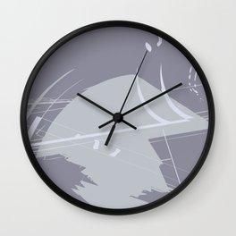 Gray scratchs Wall Clock