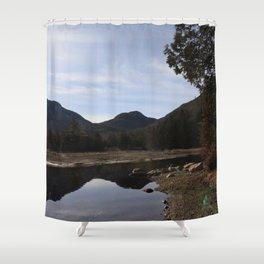 High Peaks Upstate New York Lake Placid Shower Curtain