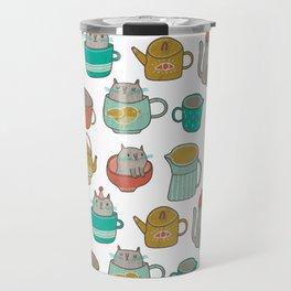 Pattern Project #5 / Cats and Pots Travel Mug