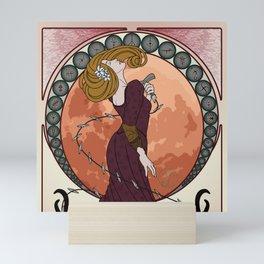 Art Nouveau Bloodborne - Moon Scented Hunter Mini Art Print
