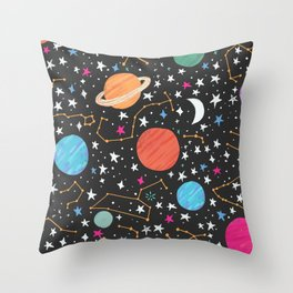 Astrology Pattern Throw Pillow