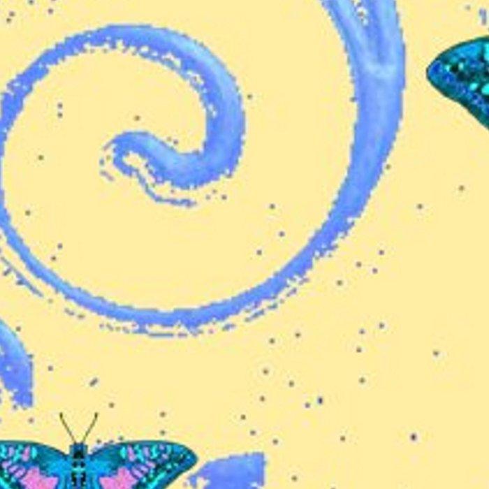 ORNATE BLUE BUTTERFLIES SCROLL DESIGNS  ART Leggings