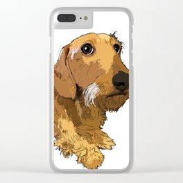 Hans the dachshund Clear iPhone Case