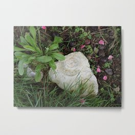 Ammonite in the stone Metal Print