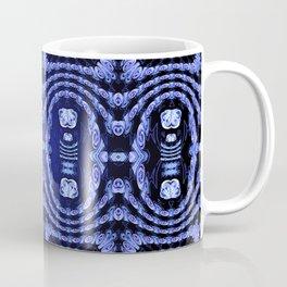 Indigo Lavender Glossy Floral Pattern Coffee Mug