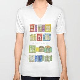 Life of the city window talks Unisex V-Neck