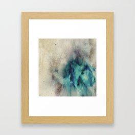 Blue Nebula Smoke Framed Art Print