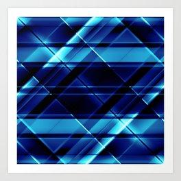 modern stripes pattern c4 Art Print