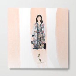 Fashion Illustration Fashion Week Oscar Metal Print