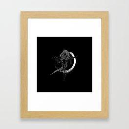 Jesus snake savage Framed Art Print