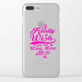 cattt Clear iPhone Case