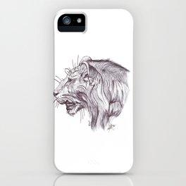 León joven. Young Lion iPhone Case