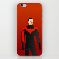 nightwing iPhone & iPod Skins featuring Nightwing by pablosiano