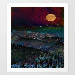 Midnight Mountain Art Print
