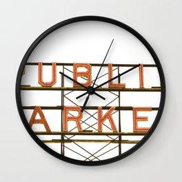 Pike Place Public Farmers Market - Sunrise Wall Clock