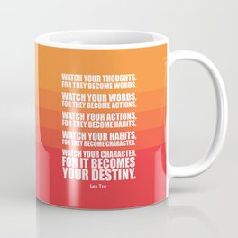 Lab No.4 - Watch Your Thoughts For They Become Words Inspirational Quotes poster Coffee Mug