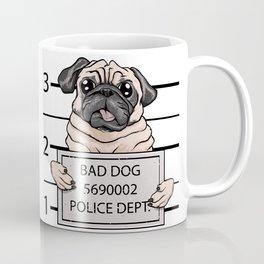 mugshot dog cartoon. Coffee Mug