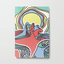 waves colors Metal Print