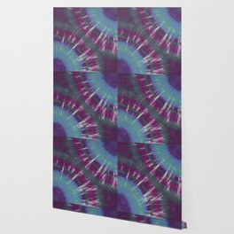 Mirror Circle Tie Dye Purple Black Blue Green Wallpaper