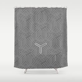 Odd one out Geometric Shower Curtain