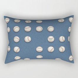 Balls On Blue Field Rectangular Pillow